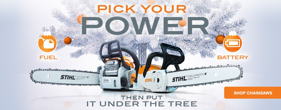 Pick Your Power - Shop Chainsaws